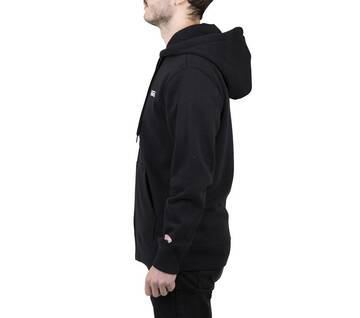 Small Logo Black Zip-Up Hoodie 2