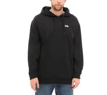 Retro Tall Type Black Hoodie
