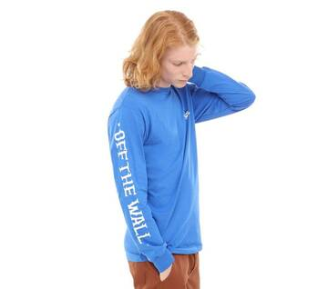 Vans x Anti Hero On The Wire Blue Long Sleeve Tee