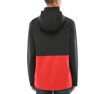 Triple Circle Black/Red Anorak
