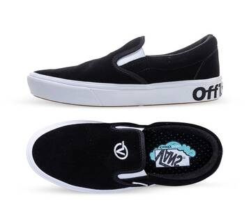 DISTORT COMFYCUSH SLIP-ON BLACK