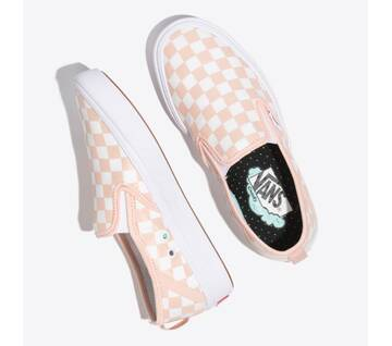 Comfycush Slip On Checkerboard Pink/White