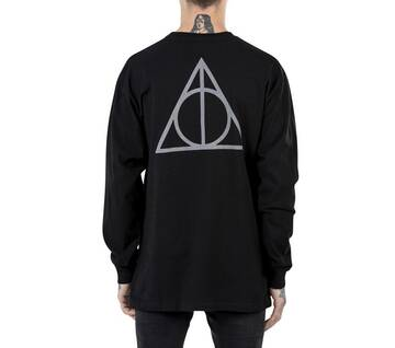 Vans X Harry Potter Deathly Hallows Black Long Sleeve Tee
