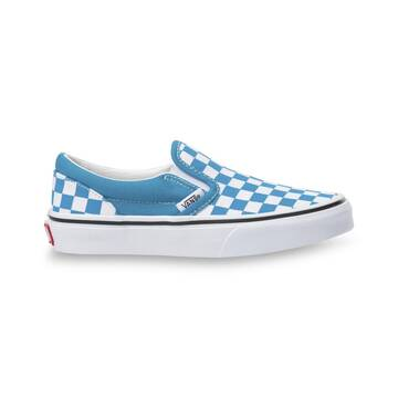 KIDS CLASSIC SLIP ON CHECKER CARIBBEAN SEA