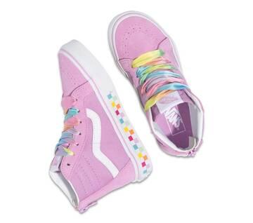 Kids Sk8-Hi Zip Rainbow Lace