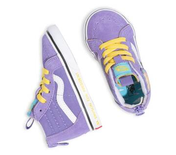 The Simpsons x Vans Toddler Sk8-Hi Zip Lisa 4 Prez